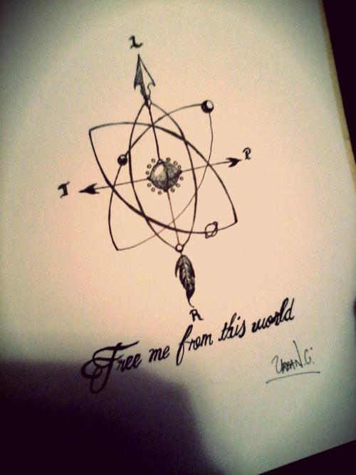 500x667 Compass Rose , Solar System Atom Diagram Tattoo Arrow, Art,