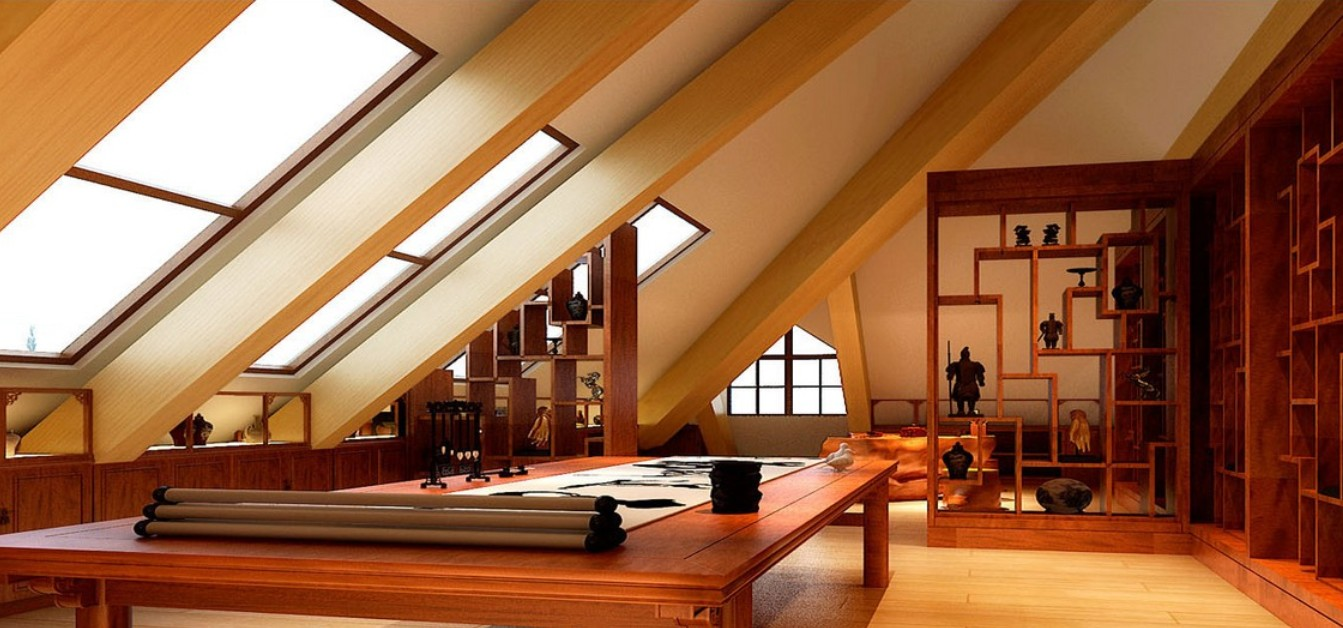 1343x628 Drawing Room In Attic Villa Download 3d House