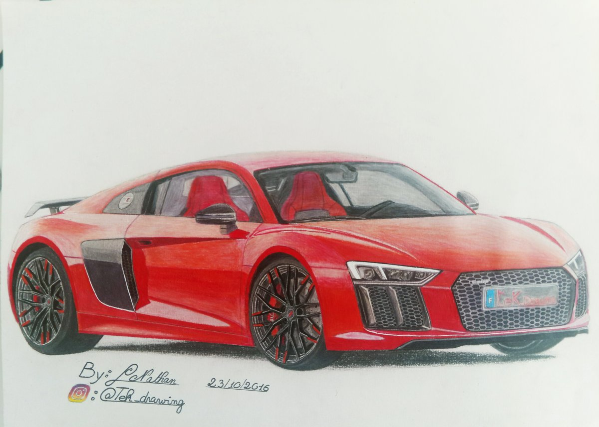Audi R8 Drawing At Getdrawings Com Free For Personal Use Audi R8