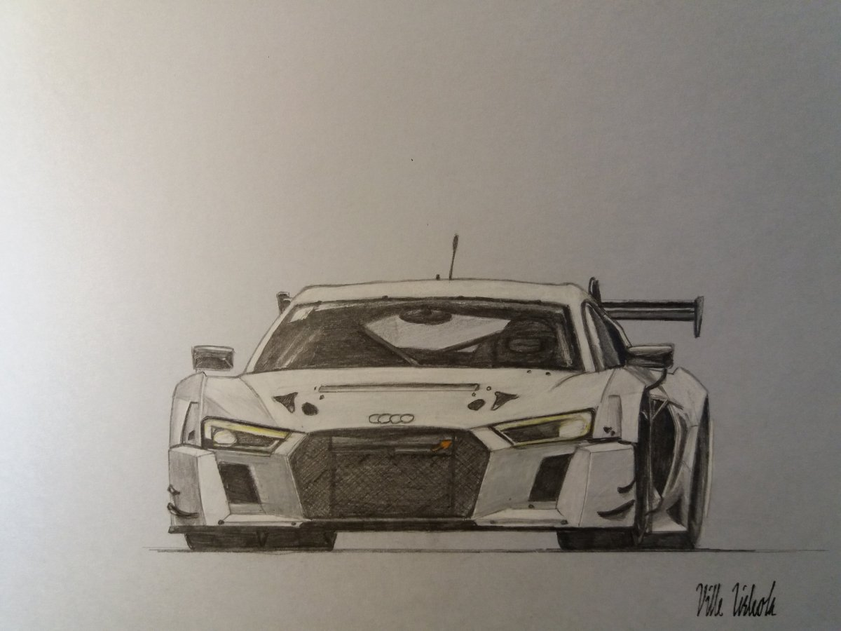 Audi R Drawing At GetDrawingscom Free For Personal Use Audi R - Audi r8 race car for sale