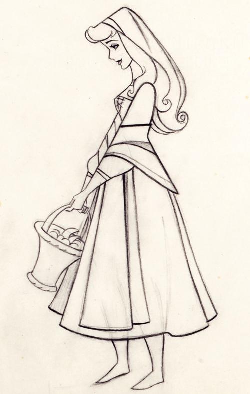 500x788 Disney's Sleeping Beauty Production Drawing Sleeping Beauty
