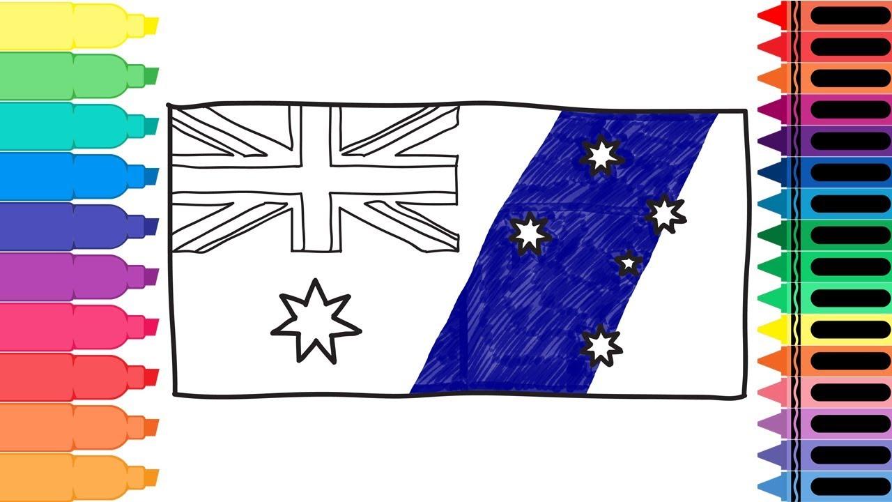 1280x720 How To Draw Australia Flag