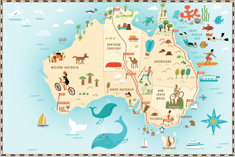 1000x669 illustrated map of australia for the daily telegraph by nate