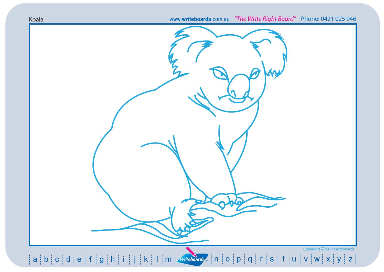 1500x1061 Australian Animal Drawing Pack Writeboards Children's Writing