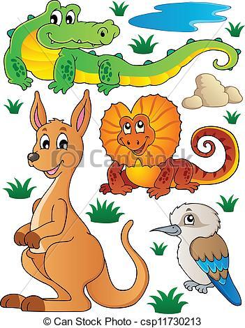 351x470 Australian Wildlife Fauna Set 2