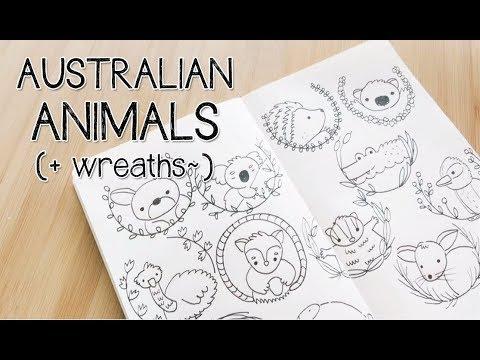 480x360 Drawing Kawaii Australian Animals Doodles With Circles