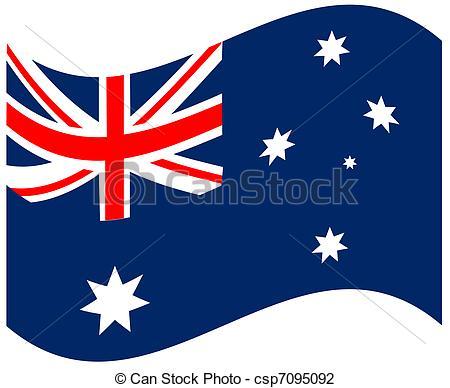 450x388 Australia Flag Isolated On White Background Vector Illustration