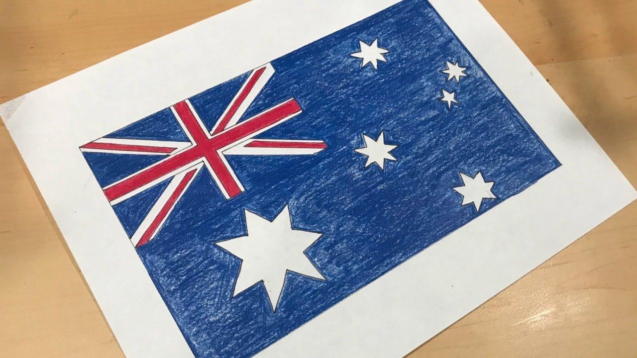 1280x720 Australian Flag Drawing