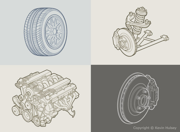 600x440 Car Line Drawings And Black And White Line Art Diagrams