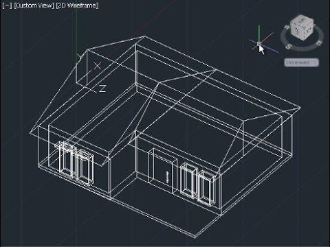 480x360 Autocad 3d House Modeling Tutorial Beginner (Basic)