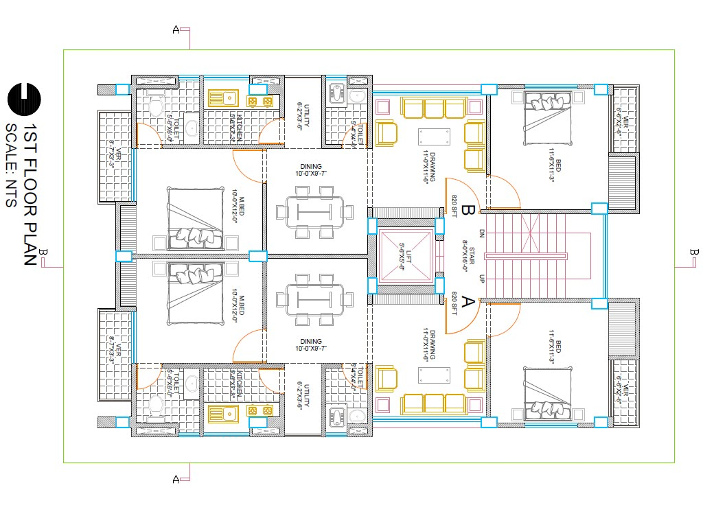 1024x768 house plan how to draw a floor plan in autocad 2016 house plans - House Plans In Autocad 2d Drawings