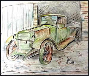 300x255 Automobile Drawings