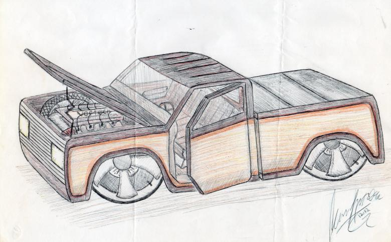 780x483 Automobile Drawing By Hand