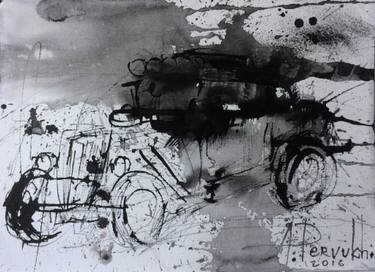 375x272 Saatchi Art Black Automobile Drawing By Alexey Pervukhin