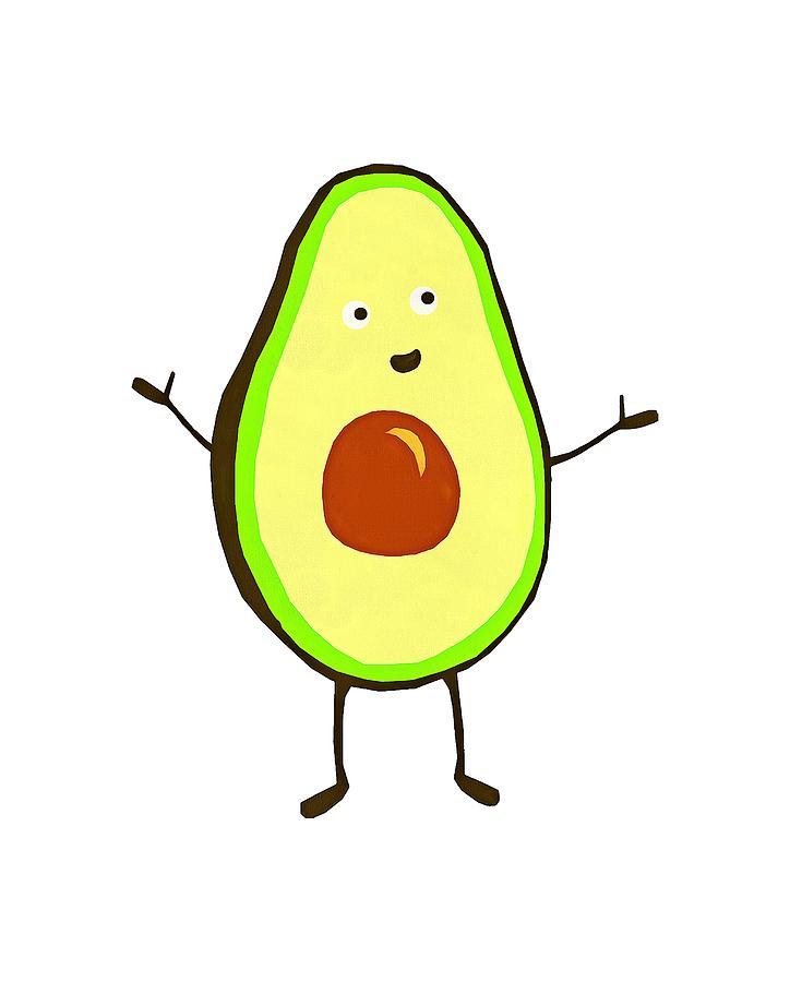 724x900 Avocado Fruit Drawing By Fan Rizky
