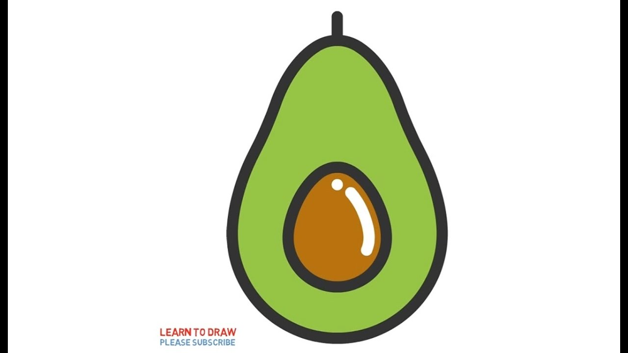 1280x720 How To Draw A Avocado Step By Step For Kids