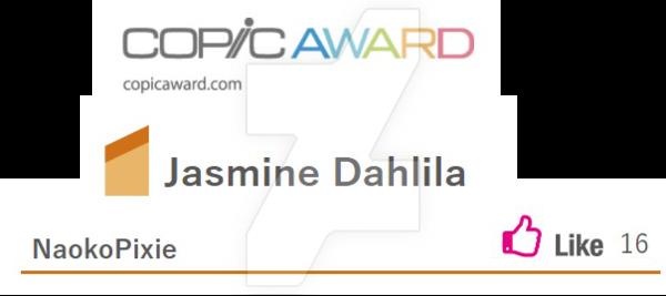 600x267 Jasmine Dahlila ~ Copic Award Drawing ~ By Naokoyamashita