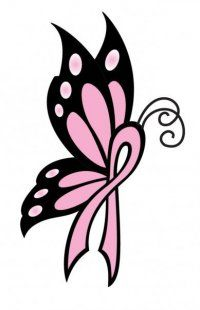 200x310 Butterfly Cancer Ribbon Drawing Cancer Ribbon Butterfly Tattoos