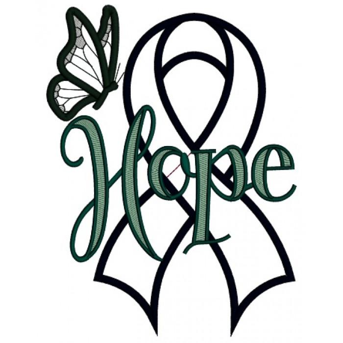 Cancer Ribbon Applique Design Free