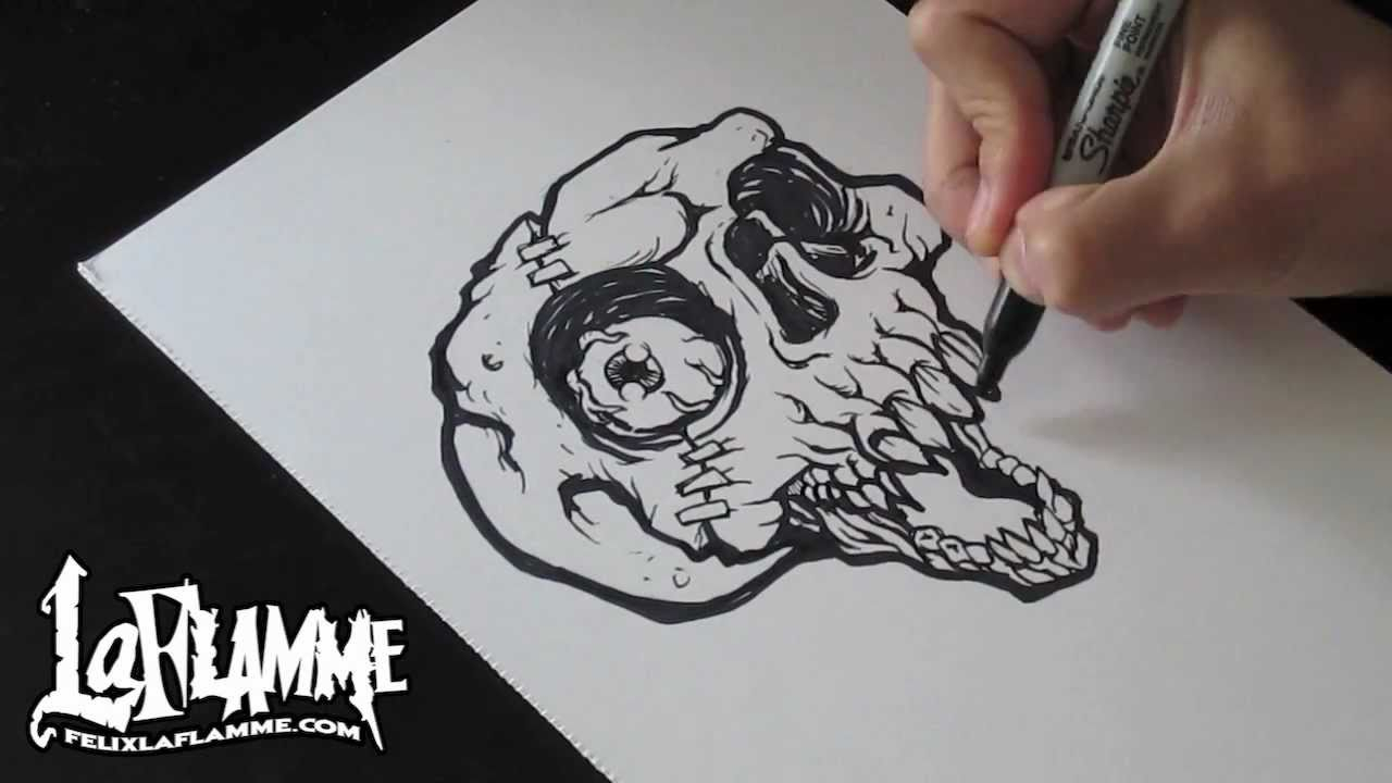 1280x720 Awesome Skull Drawings