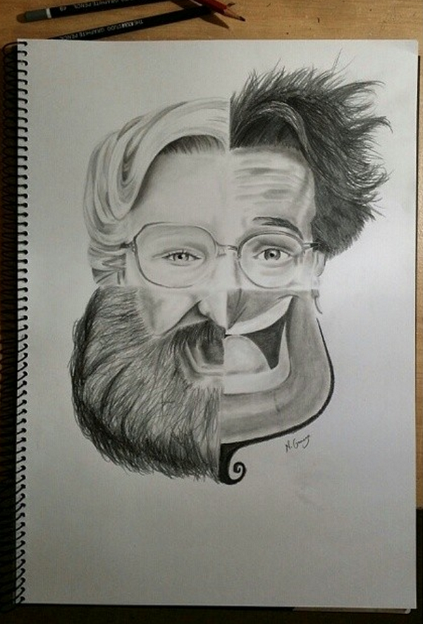 600x886 Illustration Inspiration Robin Williams, Robins And Draw