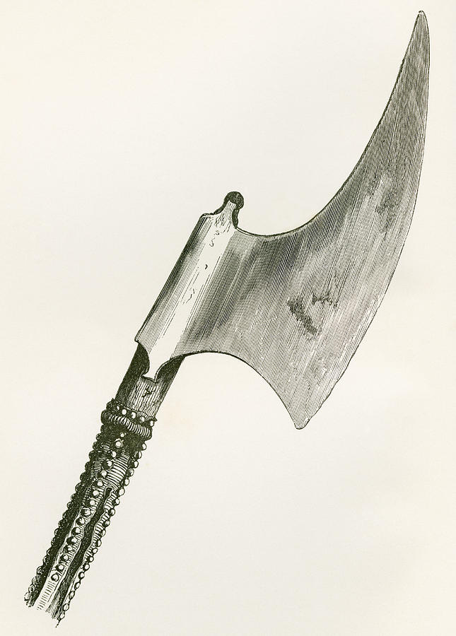 645x900 16th Century Ceremonial Beheading Axe Drawing By Vintage Design Pics