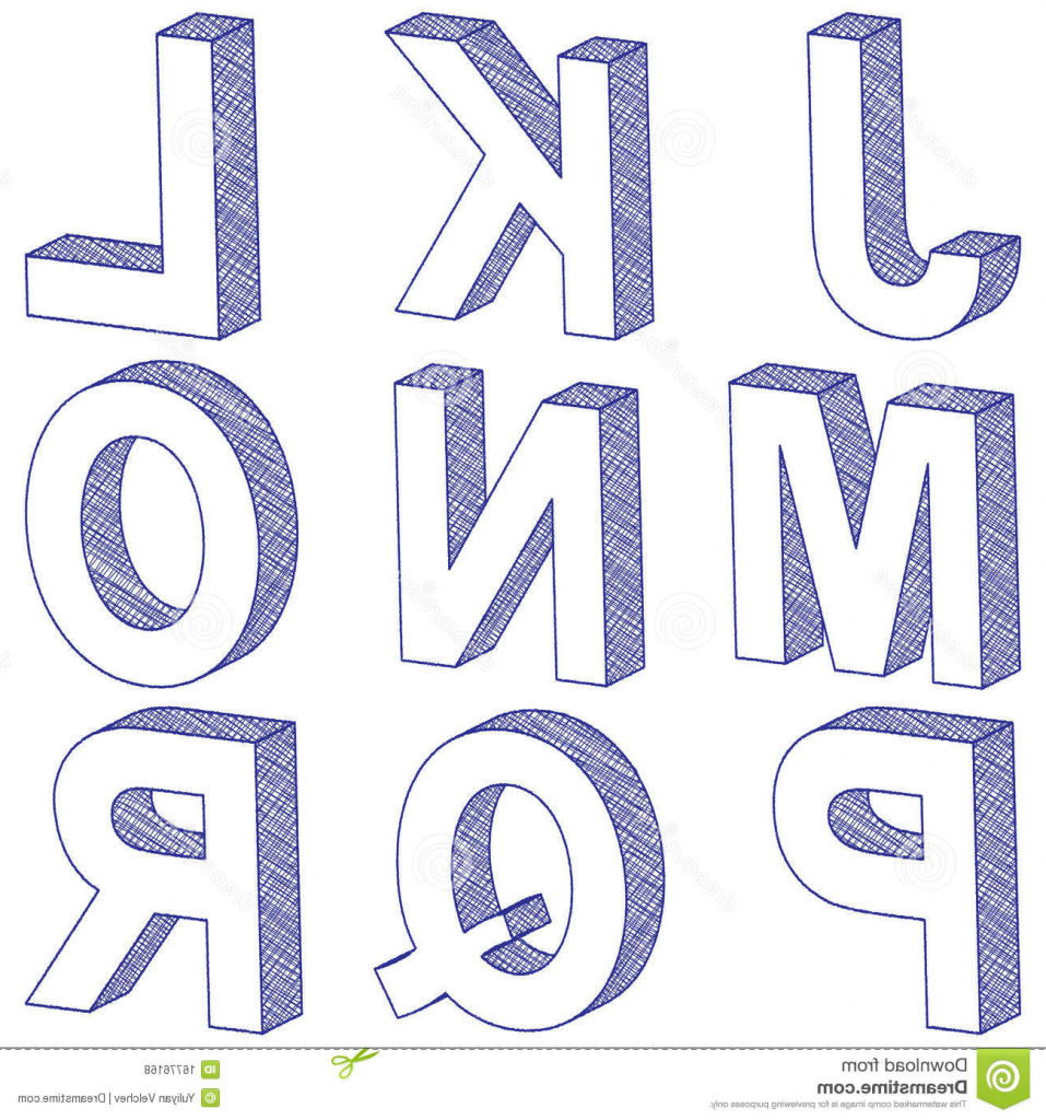 How To Draw 3d Letters Alphabet