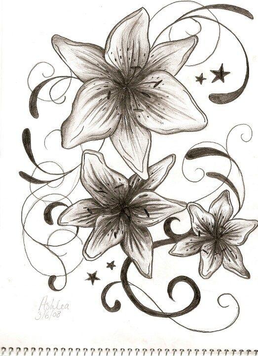 523x720 Flower Tattoo Like This But Azaleas Tattoos Tattoos Picture
