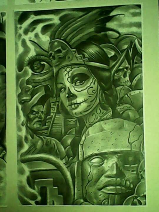 540x720 Aztec Arte Chicano Pride Aztec, Chicano And Aztec Art