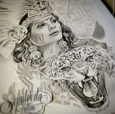 236x233 Lowrider Aztec Art Aztec Woman Drawings Art Lowrider Arte Tattoo