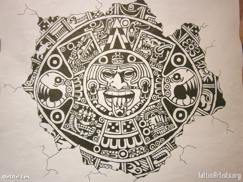 1024x768 Aztec Calendar Wallpaper Group With 57 Items