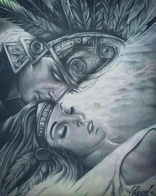 500x625 Aztec Chicano Art Tumblr