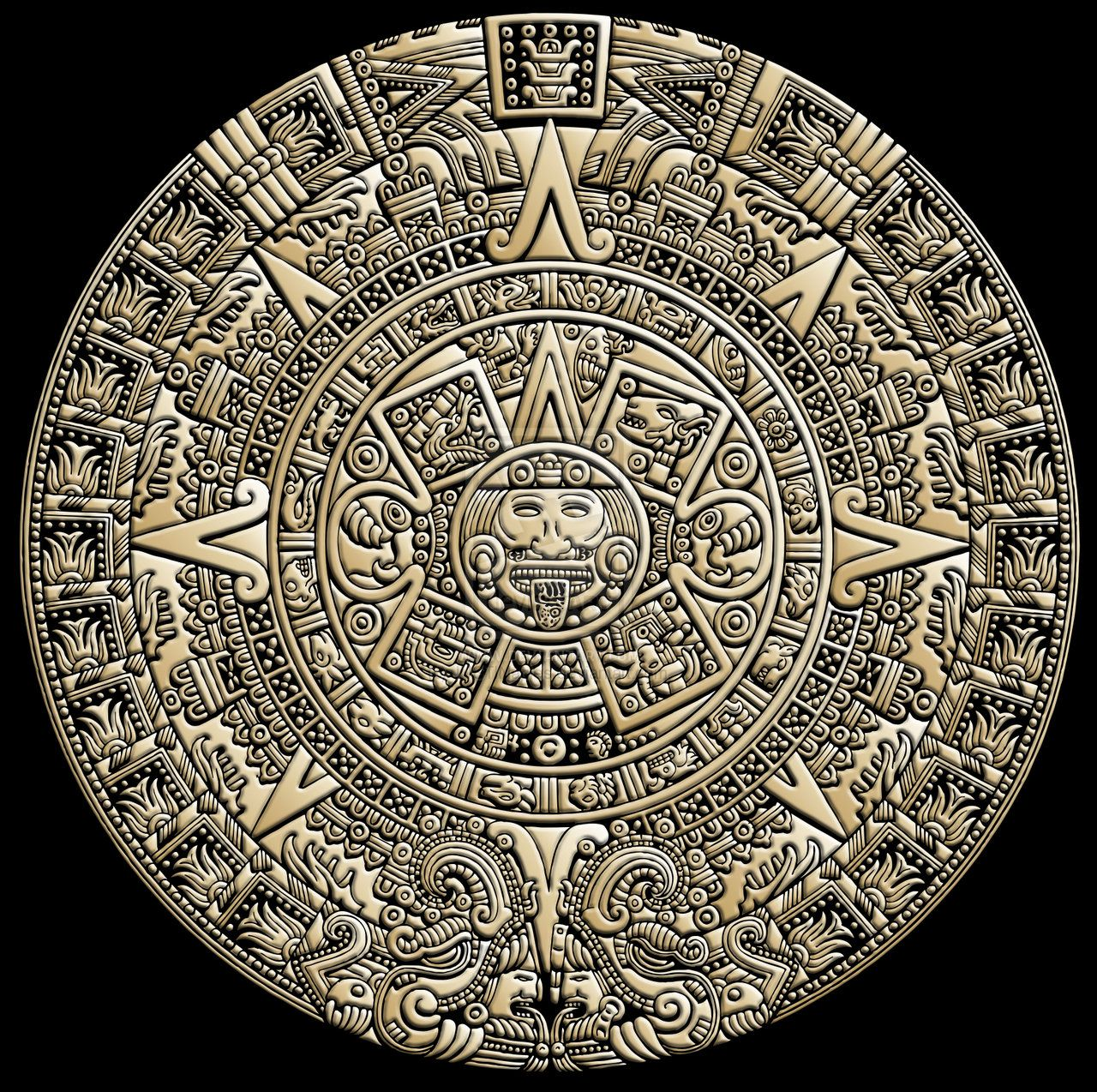 1280x1274 Aztec Calendar By ~justinaples On Ink And Papyrus