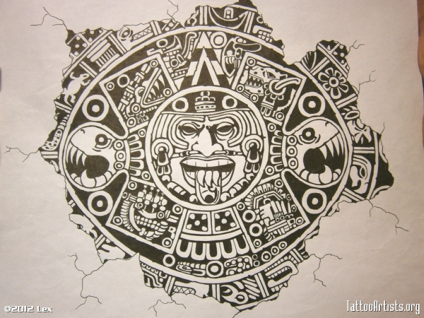 600x450 Aztec Calendar Tattoos Designs Tattoos Aztec