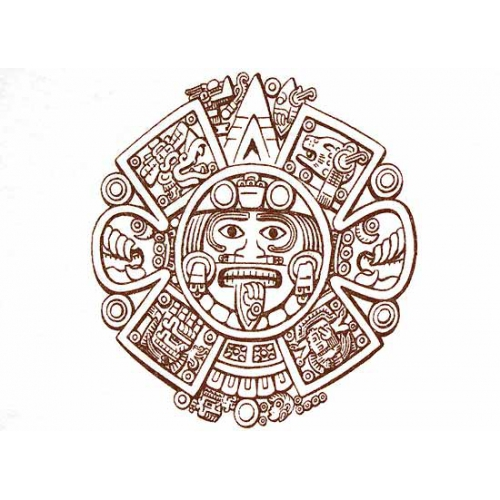 Aztec Calendar Drawing : Aztec calendar drawing at getdrawings free for