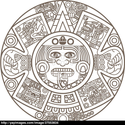 Aztec Calendar Drawing At Getdrawings Free For Personal Use