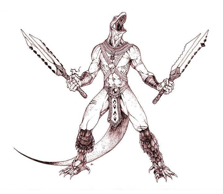 720x628 Aztec Komodo Warrior By Edcomics
