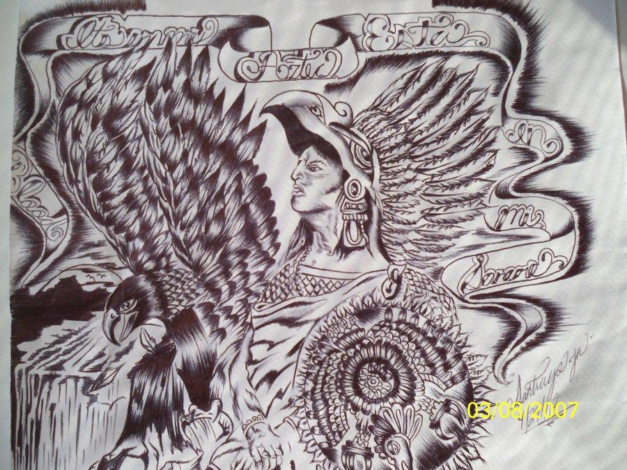 900x675 Aztec Drawing By Santi92