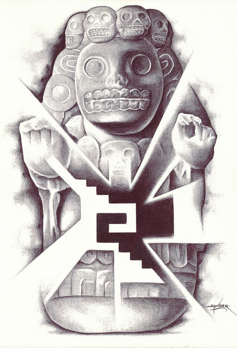 810x1200 Sal Assid Aztec Drawing Mexican Aztec Drawing And Draw
