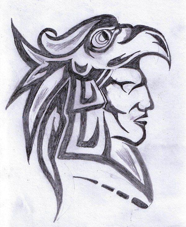 600x733 Aztec Drawings