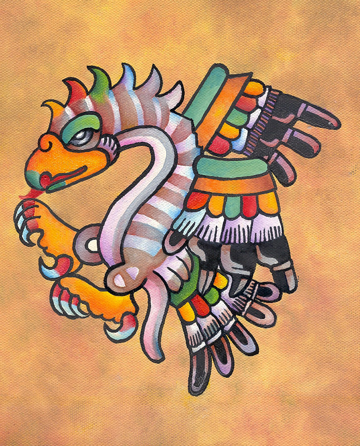 717x889 Aztec Eagle By Juliandroid