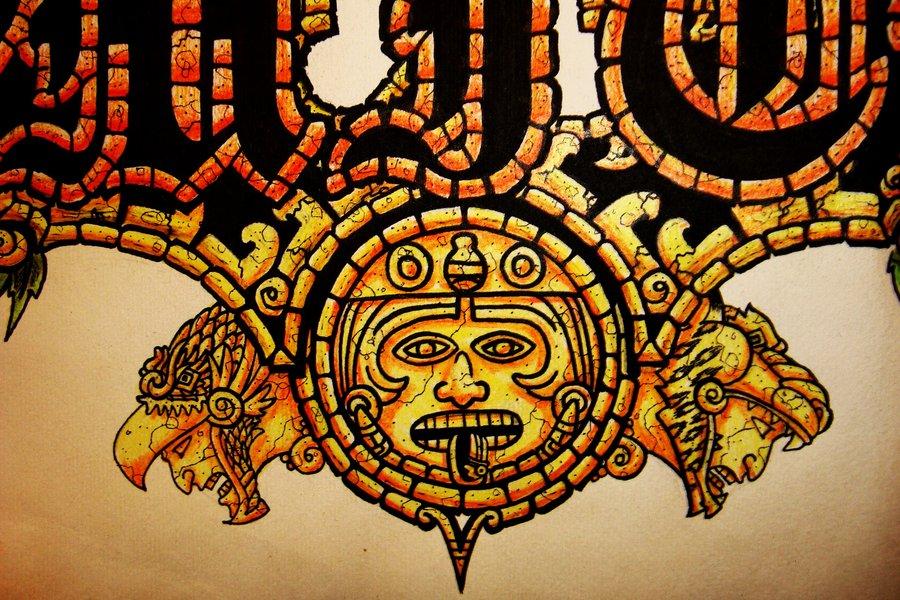 900x600 Aztec Sun, Eagle And Jaguar By Kiddgrimm