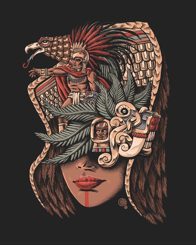 640x800 Aztec Eagle Warrior By Qetza