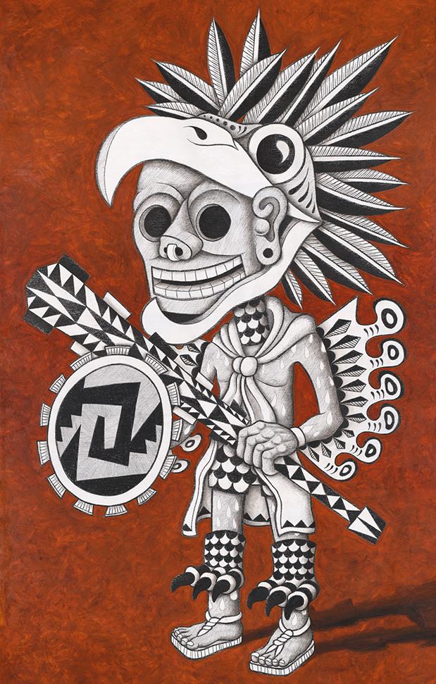 619x971 Aztec Eagle Warrior