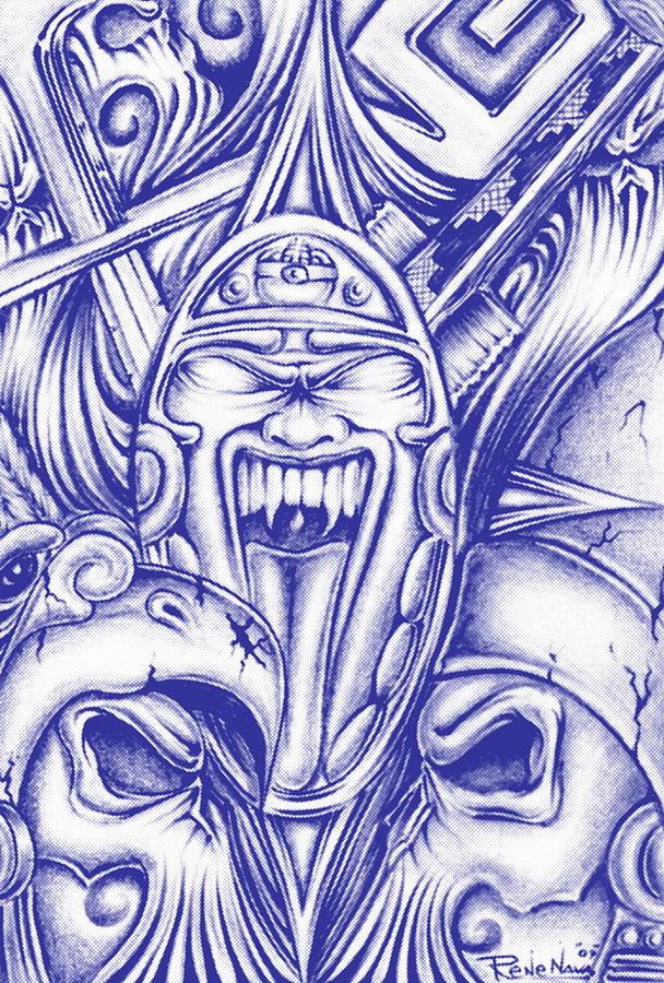 608x900 Aztec Warrior Drawings Fine Art America