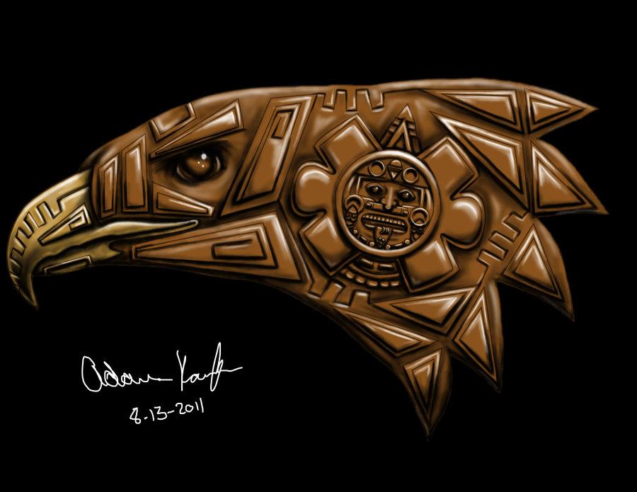 900x695 Eagle Aztec By Karaffa08