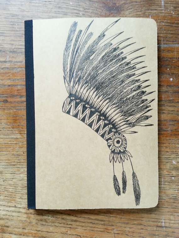 570x760 Aztec Headdress Hand Drawn Journal Drawing Journal, Headdress