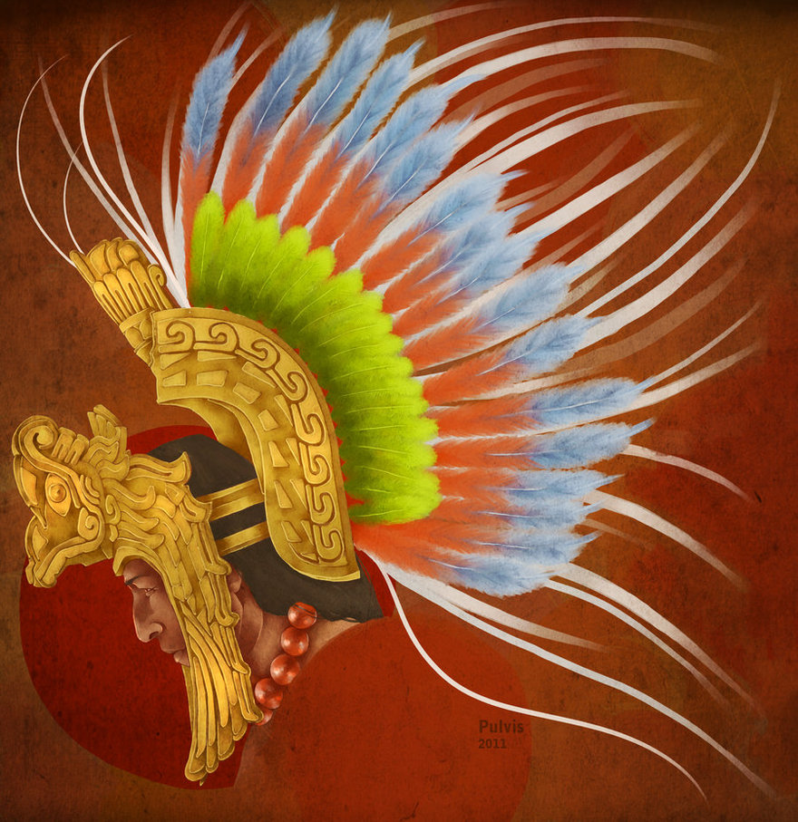 880x907 Aztec Headdress By Pulvis