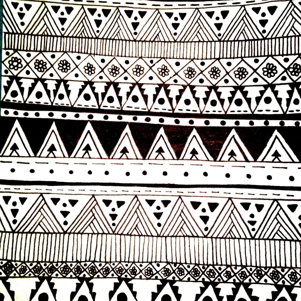 Aztec Pattern Drawing ...