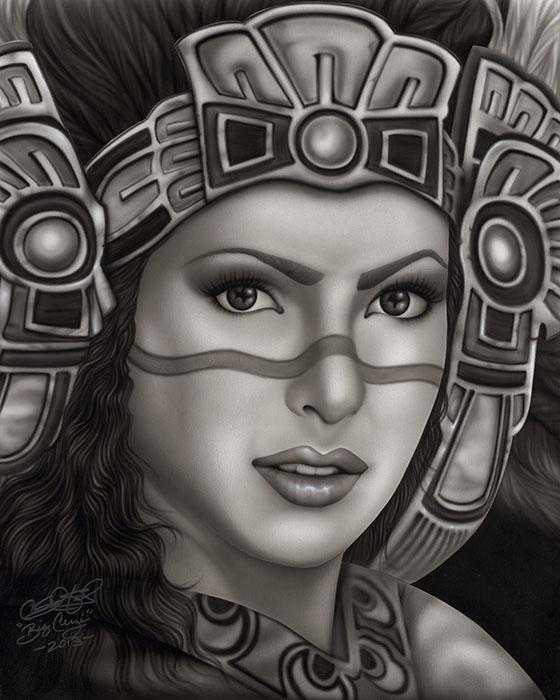 560x700 Aztec Princess Paper Print